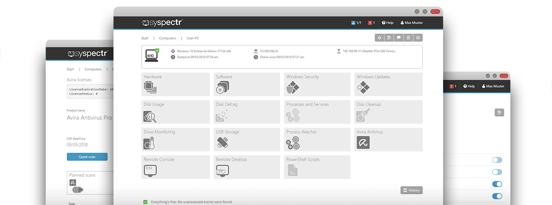 Manage Avira Antivirus with O&O Syspectr! | O&O Syspectr